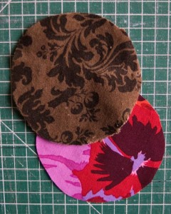 velvet and cotton fabric cut out ready