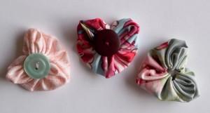 Three heart shaped yo-yo's