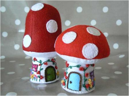 Toadstool and Cottage