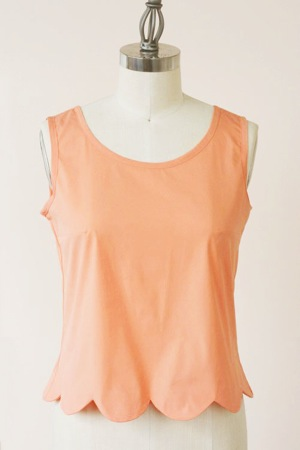 Sorbetto scalloped hem