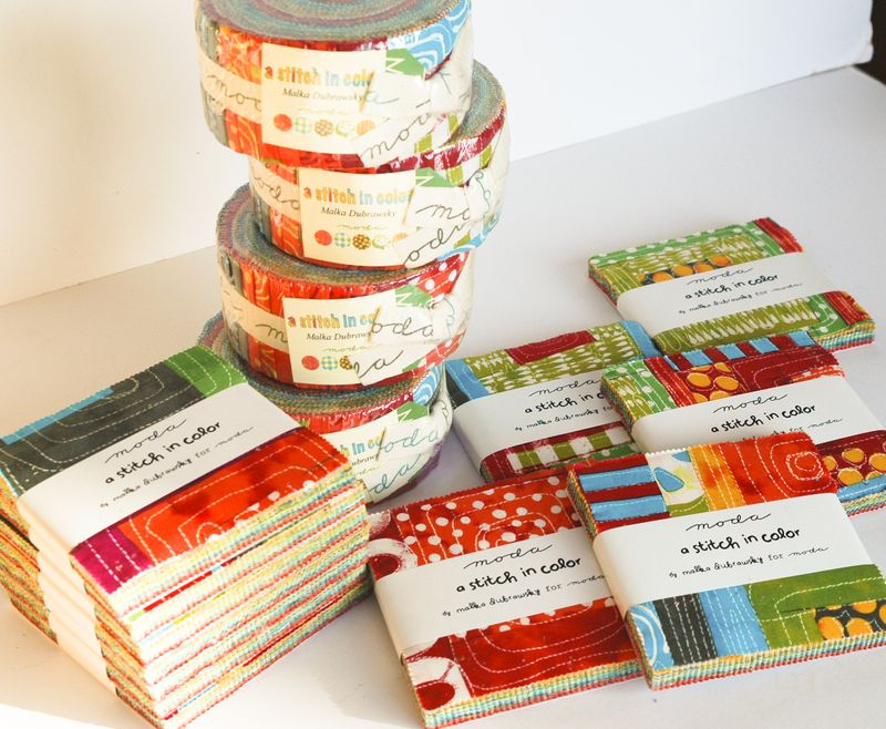 stitch in colour - Jelly rolls and charm squares