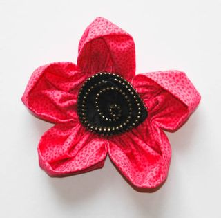 pretty fabric flower